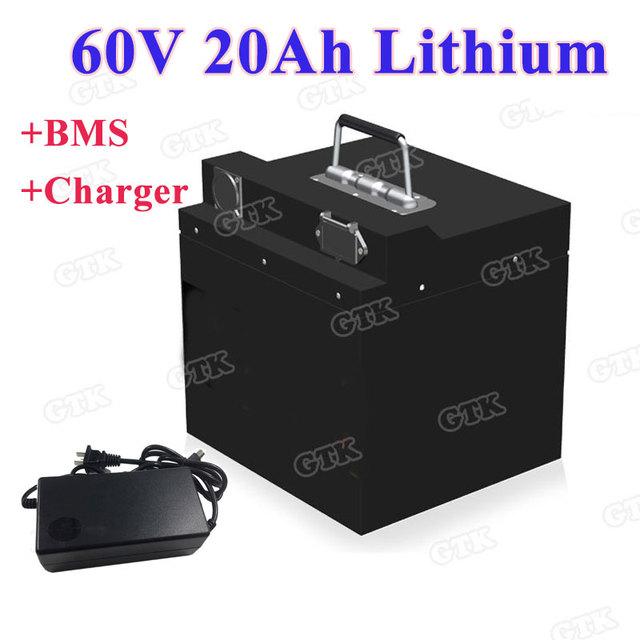 Rechargeable 60v 20ah Lithium Battery Pack With Bms For