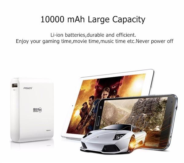 PISEN Li-ion Power Bank 10000 mAh (8)