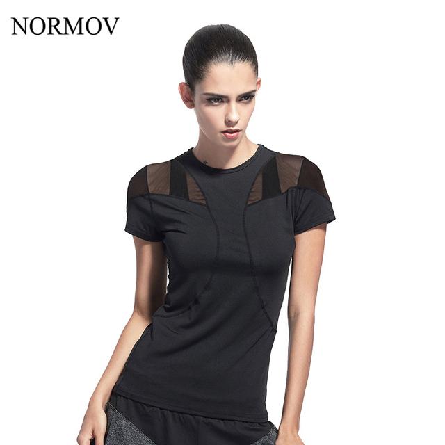 Tempo Aventura NORMOV S-XL camiseta Mulheres Malha Patchwork camiseta Manga Curta Quick Dry Respirável Encabeça Mulheres