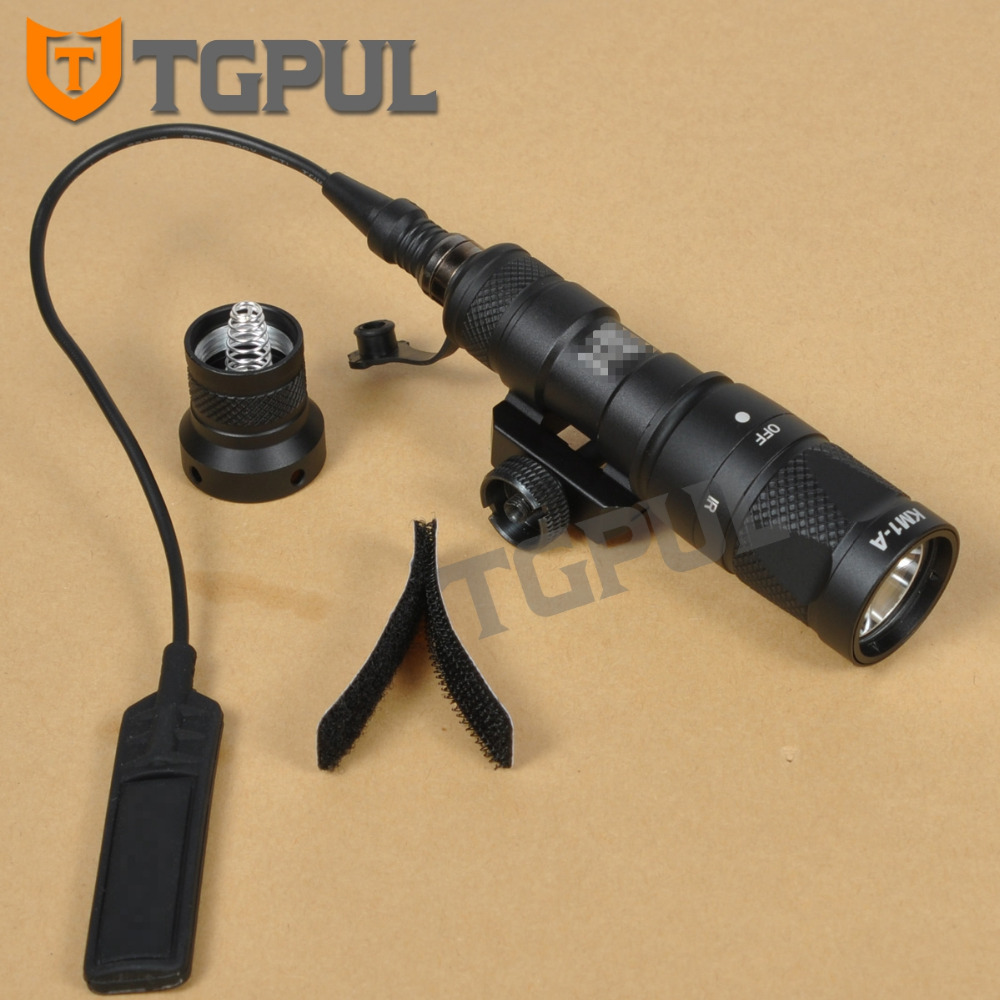 TGPUL M300 M300V Tactical Flashlight Gun Weapon Light Military Hunting Strobe Torch For 20mm Weaver Picatinny Rail AR15 night evolution wmx200 tactical gun light led flashlight strobe remote tail switch ir light for picatinny rail spotlight hunting