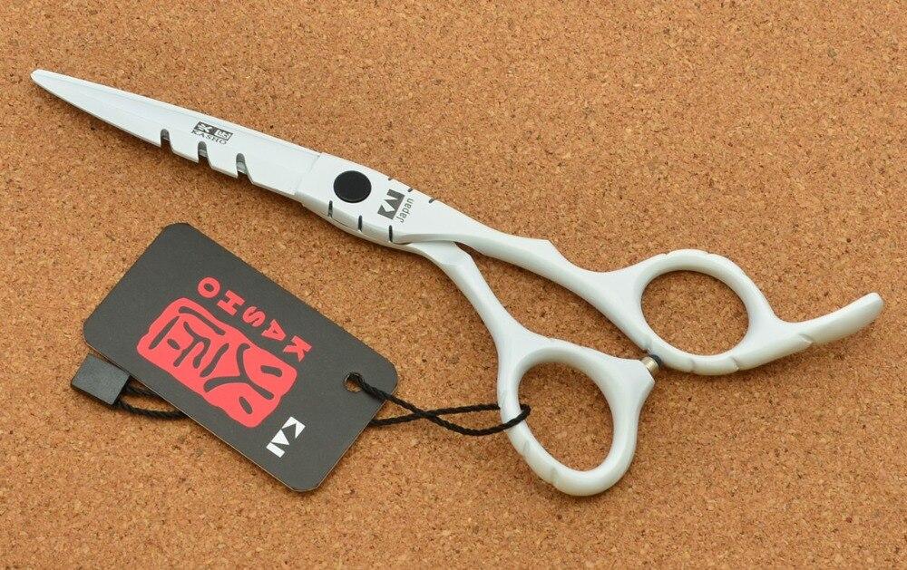 6 Japan Kasho 440C White Colour Hairdressing Scissors Cutting Shears Thinning Scissors Professional Human Hair Scissors H1010