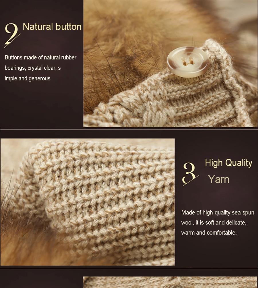 Hot Women Fur Collar Cardigan Imitation Raccoon Hair Female Sweater Rear Drawstring Design V-Neck Batwing Sleeve Winter Outwear (10)