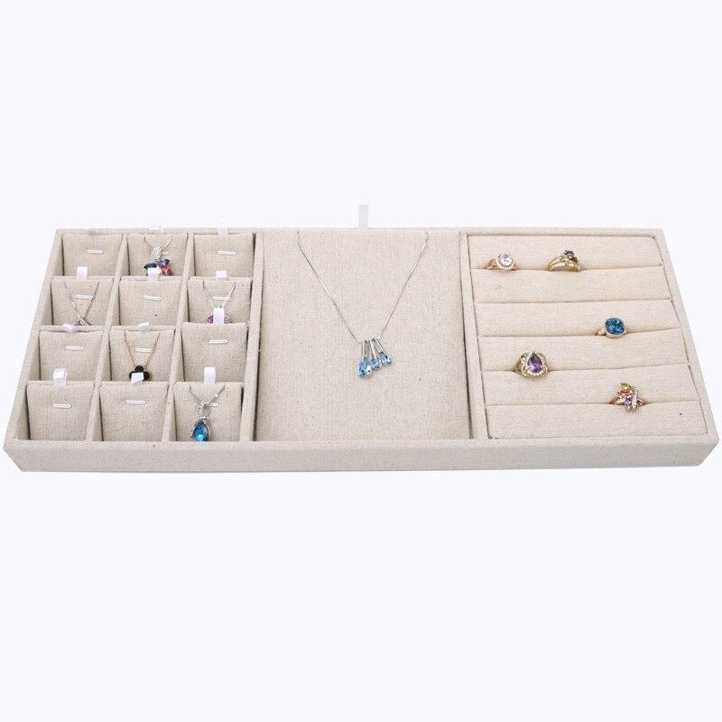 New Fashion Velvet Linen Jewelry Display Tray Necklace Pendant Earrings Ring Display Tray Jewellery Display Tray подвесная люстра chiaro 491011510