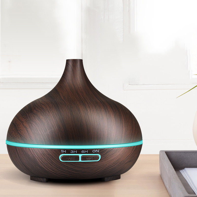 300ml Ultrasonic Air Humidifier Aroma Essential Oil Diffuser with Wood Grain 7 Color Changing LED Lights for Office Home 300ml ultrasonic air humidifier aromatherapy diffuser with wood grain 7 color led lights for home office aroma diffuser