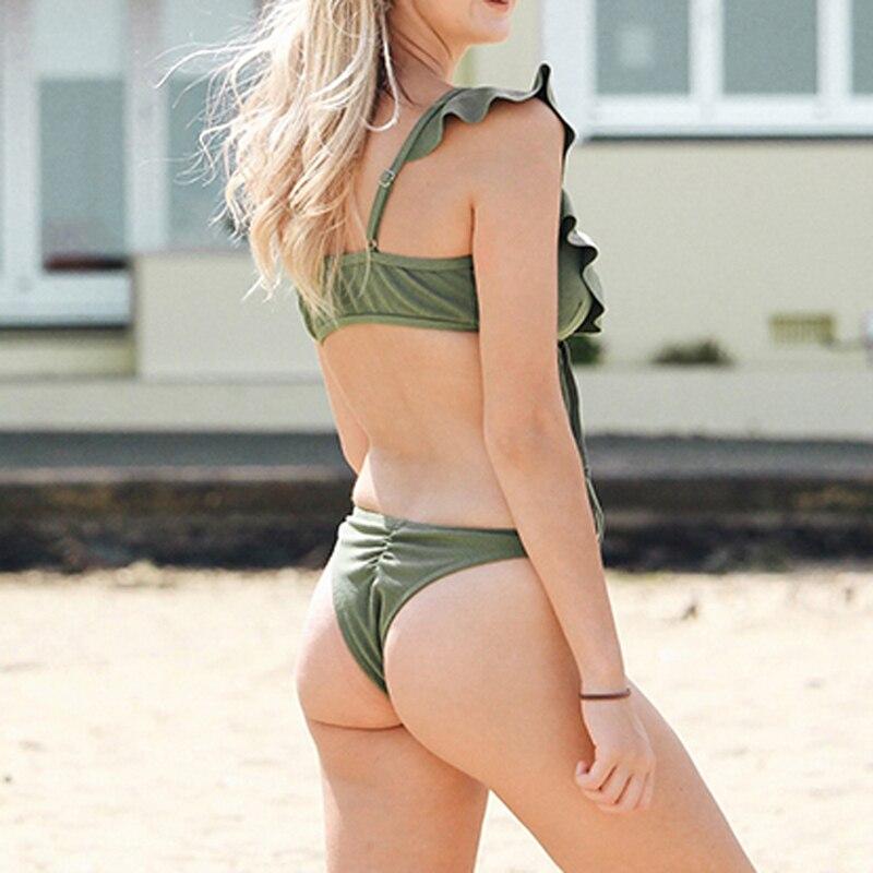 HTB1EDFSeGSs3KVjSZPiq6AsiVXaw Push up Bikini Set Women Halter Ruffle Biquini Swimwear Low Waist Sexy Swimsuit Women Beach Bathing Beachwear Bandage Bikini Set