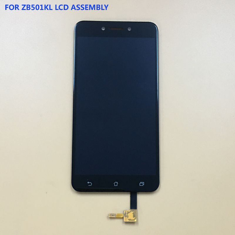 For Asus ZenFone Live ZB501KL X00FD Touch Screen Digitizer Sensor Panel Glass + LCD Display Monitor Screen Module Assembly Frame