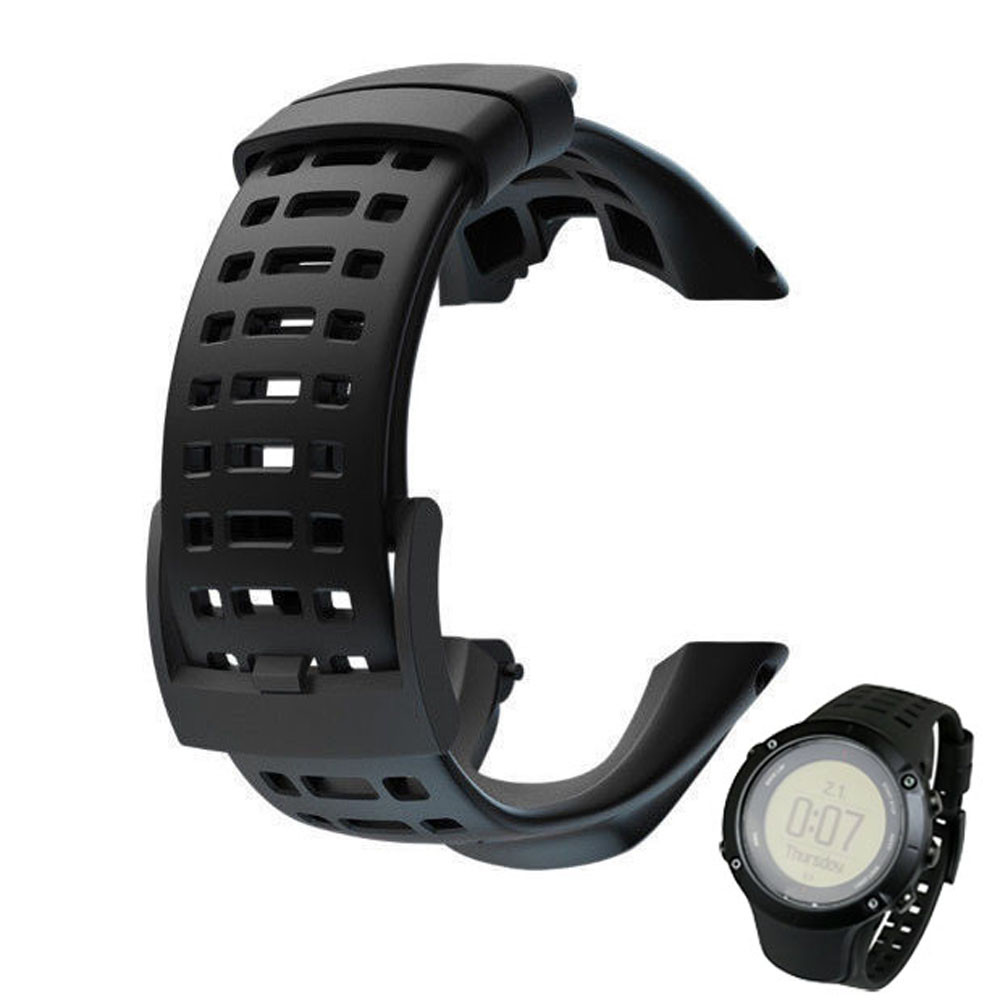 2016 Silicone Gel Wristband Bracelet Sports Watch Strap Band For Suunto Ambit 3 Peak / Ambit 2 Buckle Rubber Watchbands Correa