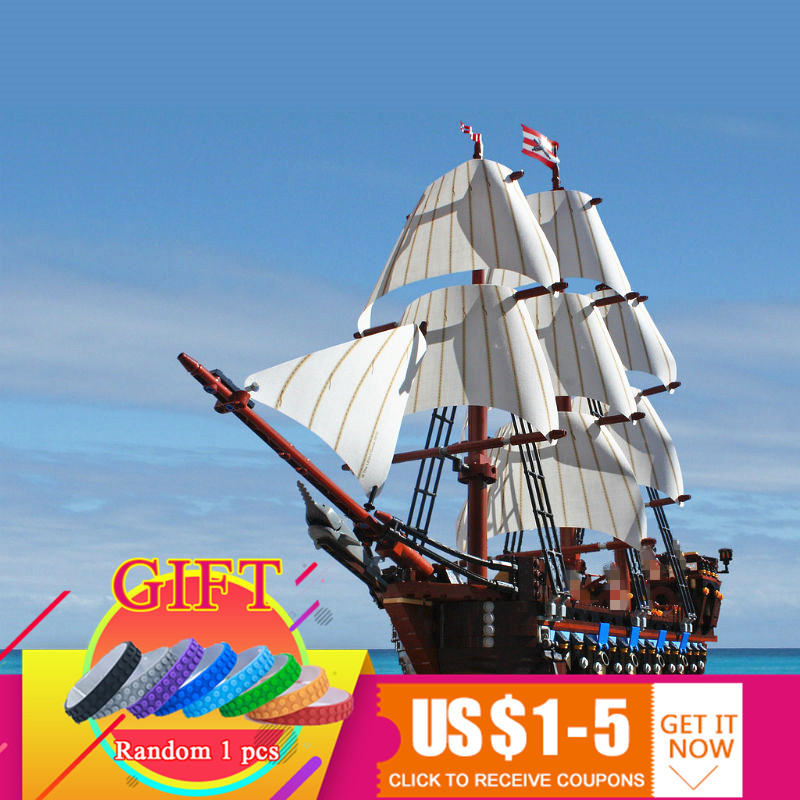22001 1717pcs Pirate Ship Imperial warships set Model Building Block Kits Bricks Compatible with 10210 Toys lepin new bricks 22001 pirate ship imperial warships model building kits block briks toys gift 1717pcs compatible 10210