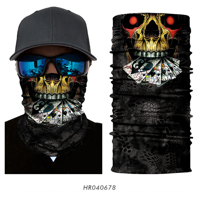 3D Seamless Ghost Skull Skeleton Head Bandana  4