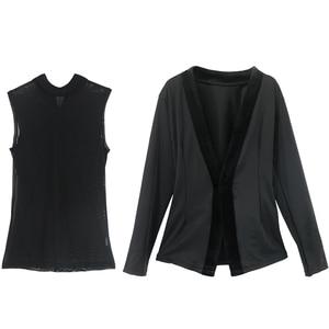 Image 3 - Boys Latin Dance Tops Shirts Black Stand Collar Cardigan 2 Pieces Suit Rumba Samba Dance Wear Kids Dance Competition Costumes