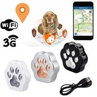 Global Locator Smart Waterproof IP66 Pet Tracker Anti lost Geofence Cat Collar Dog GSM/GPS WIFI Locator for webpage/APP/WeChat