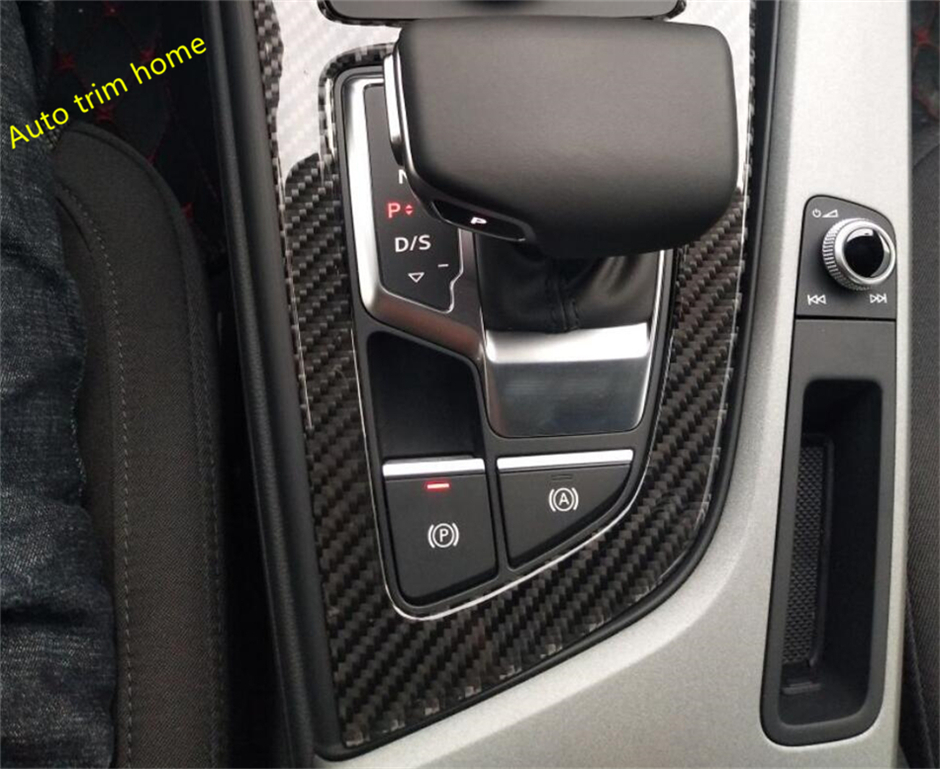 Carbon Fiber For Audi A4 B9 Sedan / Avant / Allroad Quattro 2016 2017 Transmission Shift Gear Panel Molding Garnish Cover Trim interior for chevrolet camaro 2016 2017 abs carbon fiber style transmission shift gear panel cover trim 1 piece page 2