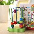 Горячая продажа высокого качества Красочные Обучающая игра Мини Детские деревянные игрушки вокруг бортов Провода maze