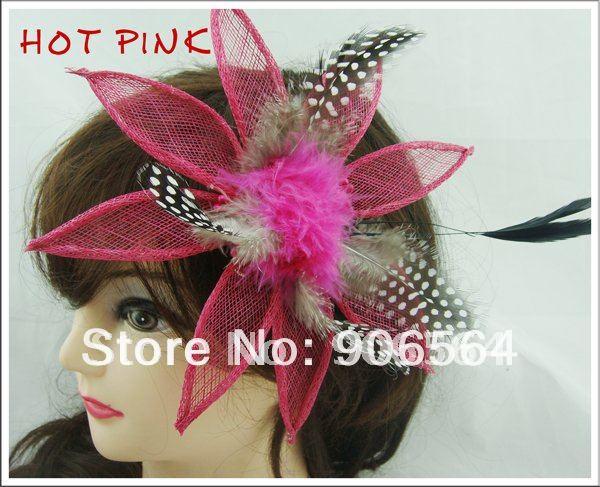 Шляпки из соломки синамей с вуалеткой перья, модные аксессуары для волос популярный свадебный Шляпы очень хороший Новое поступление несколько цветов