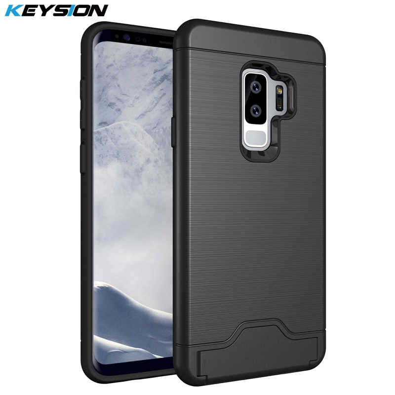 KEYSION Case for Samsung Galaxy S9 S8 Plus S7 Edge Back Cover PC + TPU  Silicon Phone Bags for Samsung S9 Dream Project Dream