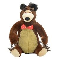 37cm Masha And Bear Musical Doll Russia Bear Plush Stuffed Toy Music Soft Kids Toys Children's Gifts