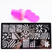 Stripe Nail Plates Pretty Good Nail Art Print Stamping Set+Nail Template Plates Beauty Stencil Manicure DIY Styling Tools Flower