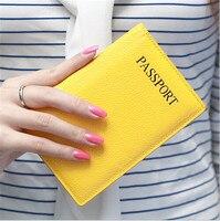 Cao Cấp Chính Hãng Da Hộ Chiếu Bìa Kẹo Màu Đi Du Lịch Passport Chủ Thẻ Tín Dụng ID Chủ Wallets