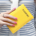 High Grade Genuine Leather Passport Cover Candy Color Travelling Passport Holder Credit Card ID Holder Wallets