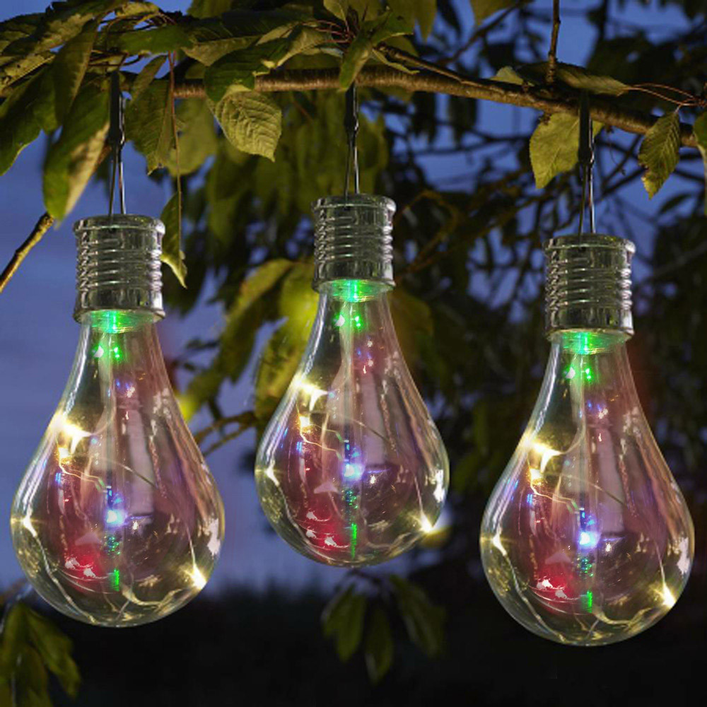 Solar Light Bulb 0.6W 1.2V IP44 Waterproof Solar Rotatable Outdoor Garden Camping Tent Hunting Hanging LED Light Lamp Bulb 2018