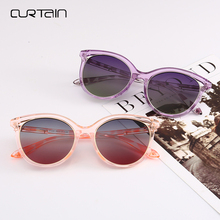 Curtain 2018 Fashion Women Cat Eye Sunglasses Men Retro Color Film Polarized Glasses Unisex Sbectol Haul