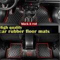 DHL Черный красный 3D Пользовательских коврики подходят автомобиля резиновые материал Пола Лайнер Комплект Коврик для Jeep Renegade автомобиль для укладки лайнер ковер