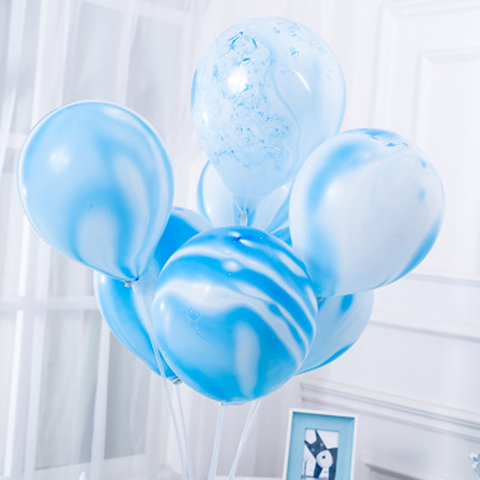 Thicken Agate Marble Balloon Multicolor Bachelorette Party Balloons Birthday Baloon Baby Shower Decoration Kids Party Supplie Lahore