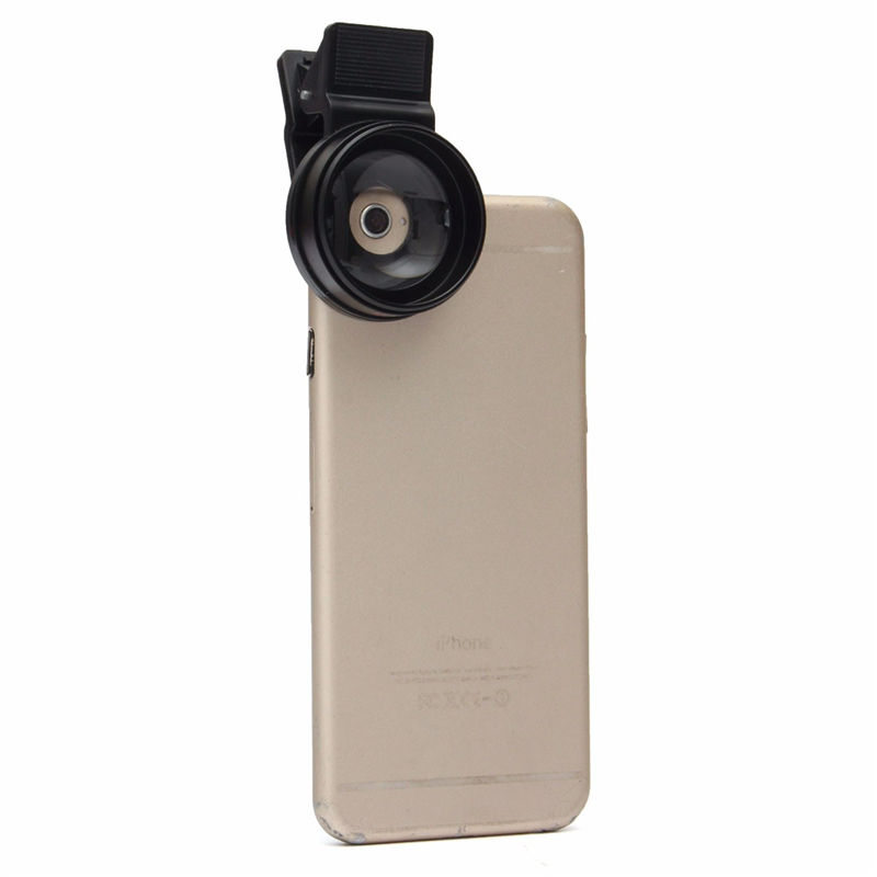 Universal 12.5X 2 in 1 Portable Detachable Smart Phone Macro Camera Lens With 0.45X Wide Angle Phone Lens For iPhone For Samsung 4