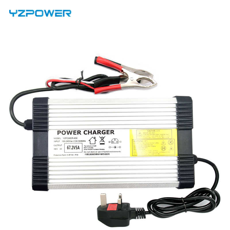 YZPOWER 54.6V 5A 6A 7A 8A 48V Lithium Battery Charger for 48V Lithium Battery Electric Motorcycle Ebikes