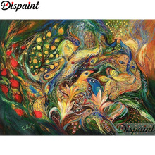 Dispaint Full Square/Round Drill 5D DIY Diamond Painting Phoenix flower Embroidery Cross Stitch 3D Home Decor A12720