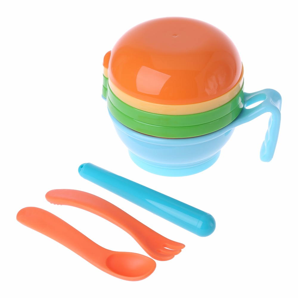1 Set Baby Food Grinding Dishes Filter Manual Hygiene Supplement Handmade Bowl