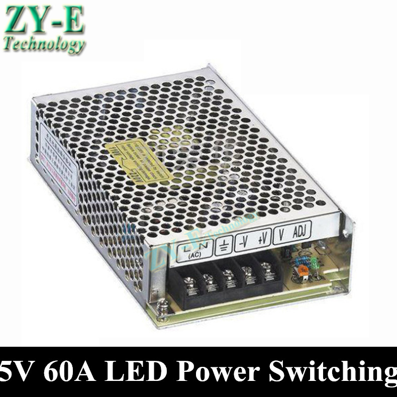1X 300W 5V 60A lled Power supply Switching Power Supply Driver For LED Strip light Display AC110V-240V Input 5V Output free ship 240w 12v 20a power supplies switching power supply driver for led strip light display ac110v 240v input 12v output free shipping