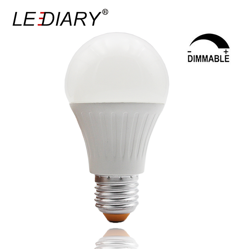 LEDIARY Dimmable A60/A19 E27 LED Bulb Aluminum Cooling Global Ball Light 11W 2700K/6400K High Lumen Lampada LED IC Driver 220V global нож поварской global forged 27 см