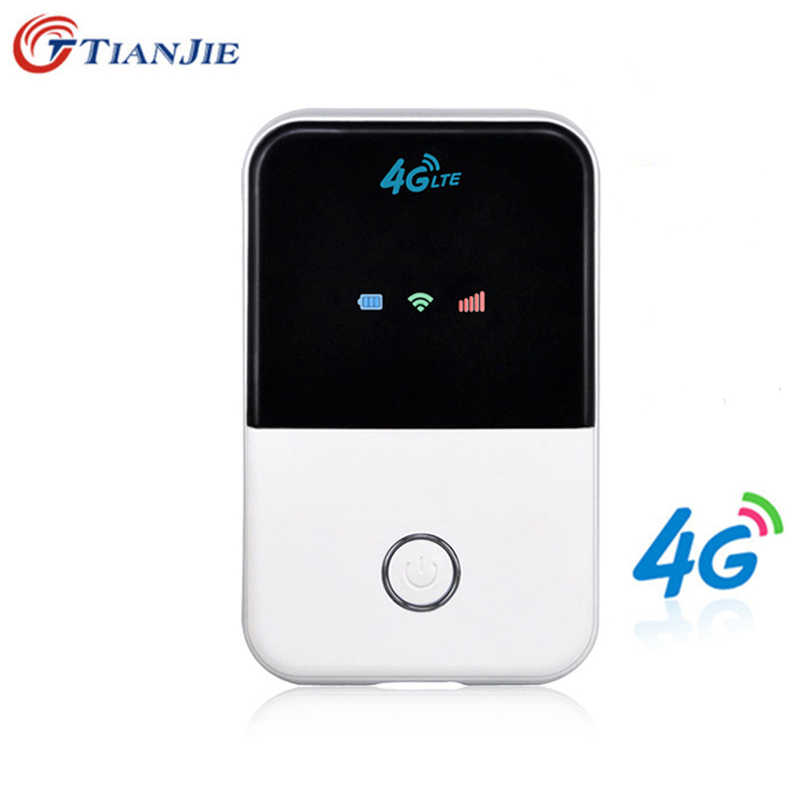 Tianjie 4G Wifi Router Mini Router 3G 4G Lte Draadloze Draagbare Pocket Wi-fi Mobiele Hotspot Auto wifi Router Met Sim Card Slot