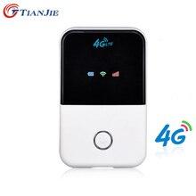 TIANJIE 4G Router Wi fi minirouter 3G 4G Lte bezprzewodowy przenośny kieszonkowy bezprzewodowy dostęp do internetu mobilny punkt aktywny samochód router Wifi z gniazdo karty Sim