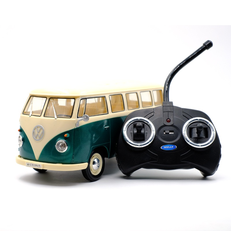 High Simulation Exquisite Diecasts & Toy Vehicles: WELLY Remote Control Toys T1 Van Retro Classic Bus 1:16 Bus Model RC Cars