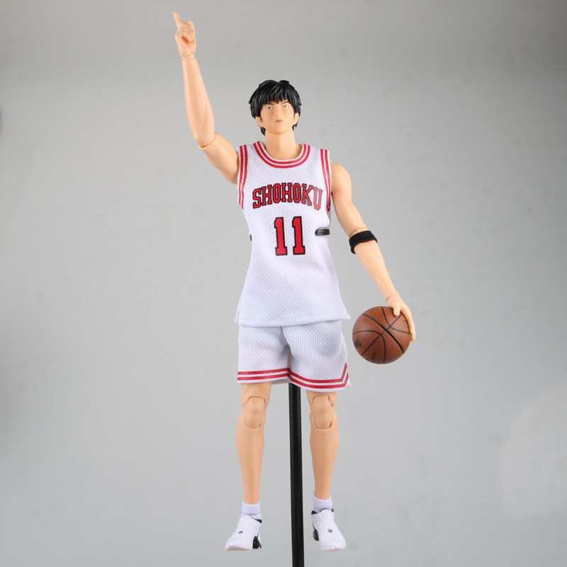 anime SLAM DUNK Rukawa Kaede action figure Number 11 ball suit figure model pvc classic collection toy  garage kit Brinquedos huong anime slam dunk 24cm number 11 rukawa kaede pvc action figure collectible toy model brinquedos christmas gift