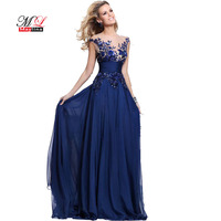 MLinina Sexy Evening Party Dress 2018 Blue Red Elegant Sequin Backless Ruched Compere Dresses Plus Size Robe Femme Mujer Apparel