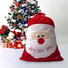 Exquisite Christmas Day Decoration Santa Large Sack Stocking Big Gift bags HO HO Christmas Santa Claus Xmas Gifts navidad bags