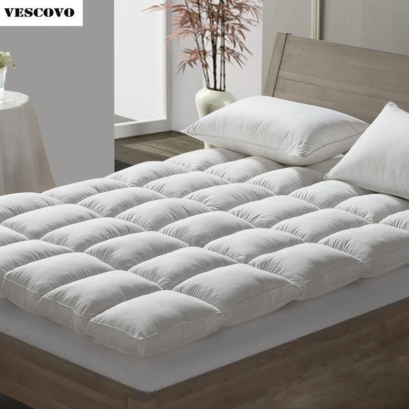 Goose Down Mattress 90% Eiderdown Mat Top Quality Queen King Size Bed Cushion Warmer Winter Mattress