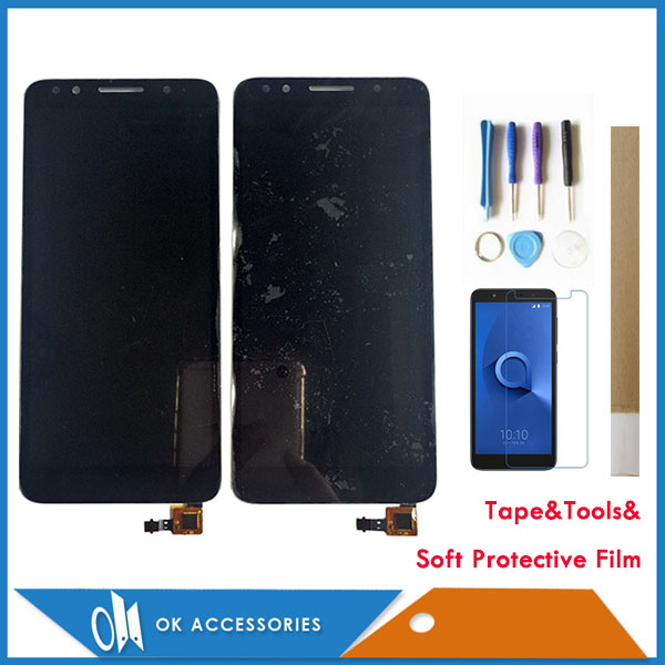 5.3 Inch For Alcatel 1X 5059D 5059A 5059I 5059X 5059Y OT5059 Touch Screen With LCD Display Digitizer Black White Color With Kits5.3 Inch For Alcatel 1X 5059D 5059A 5059I 5059X 5059Y OT5059 Touch Screen With LCD Display Digitizer Black White Color With Kits