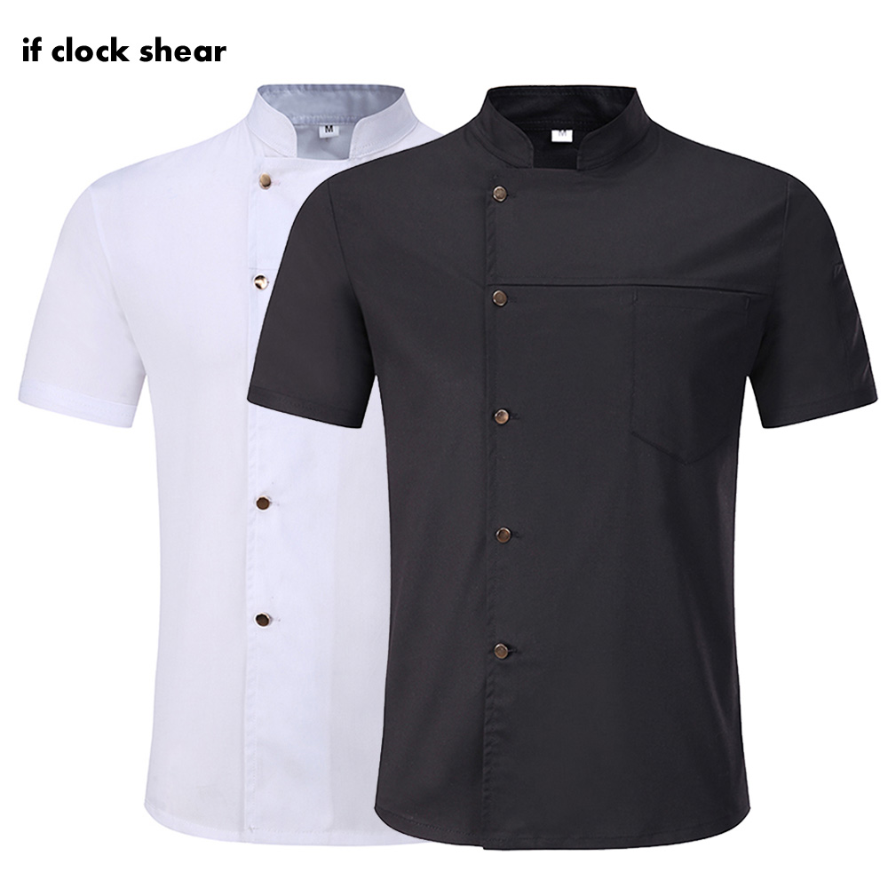 High Quality Unisex Cooker Hat Apron Restaurant Chef Uniform Catering Jacket Hotel Kitchen Short Sleeves Chef Shirt Work Clothes