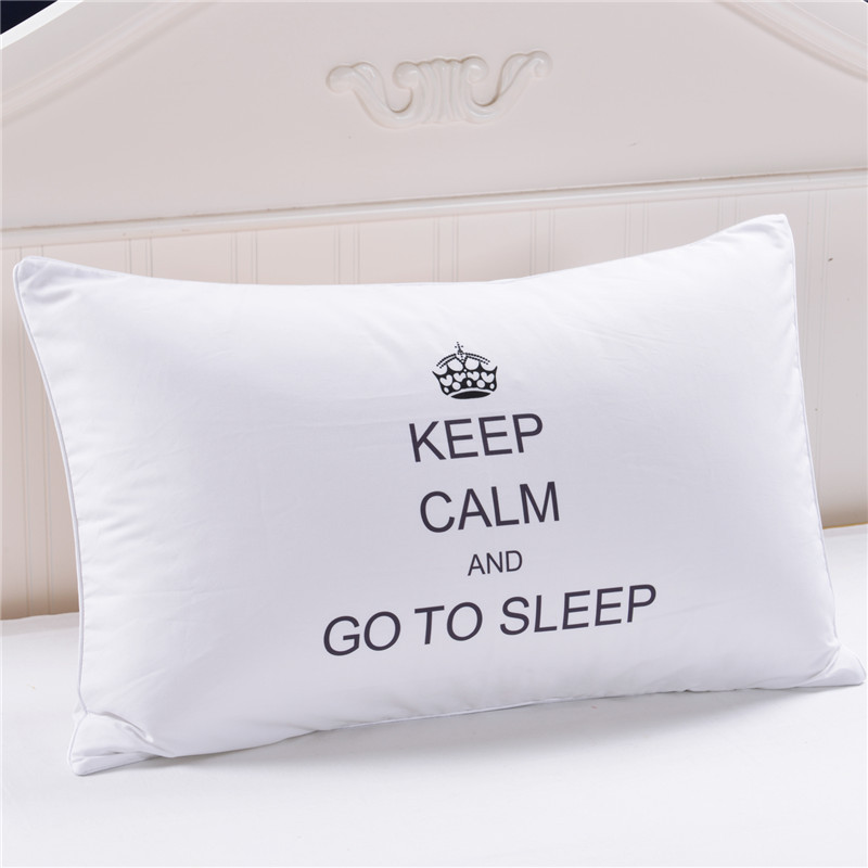 Bedding Outlet Crown Letters Decorative <font><b>Pillow</b></font> <font><b>Case</b></font> White Pillowcase Cover Home Gift One Pair <font><b>Pillows</b></font> Bedding Set Capa 50x75cm25 image