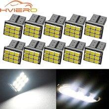 10X biała lampa kopułkowa Turn Signal T10 W5W 194 168 9led samochodów Auto Mobile Marker żarówki lampy wewnętrzne oświetlenie obrysowe DC 12V