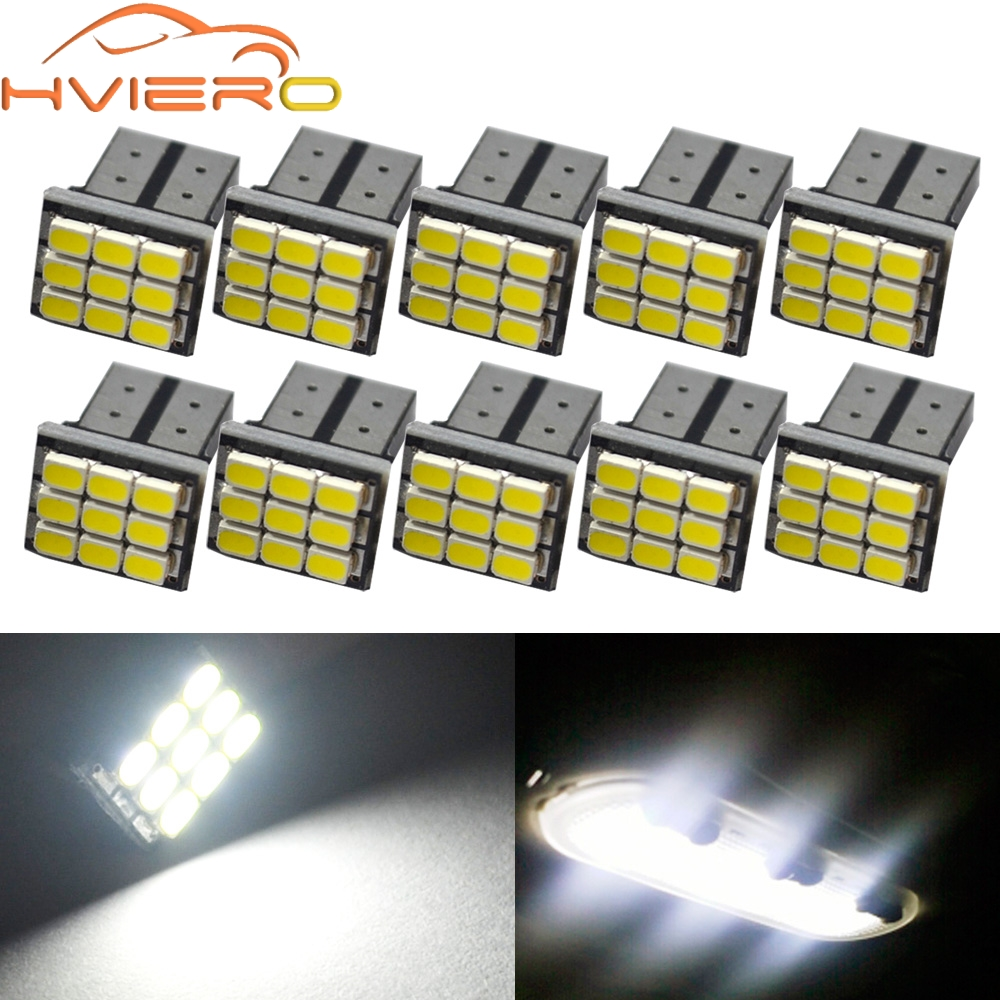10X white T10 W5W 194 168 9smd 1206 3020 9Led Car LED Auto mobile Marker Bulbs Interior Lamps backup Clearance Lighting DC 12V 50pcs 12v t10 505013smd bright led lamps w5w marker lights clearance bulbs smd white lighting high quality blue yellow