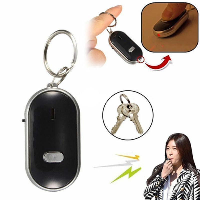 ZUCZUG NEW Anti-Lost LED Key Finder Find Locator Keychain Whistle Beep Sound Control Torch