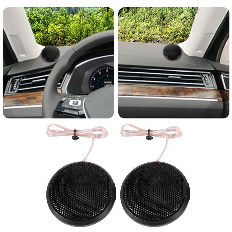 Black 1 Pair Car Tweeter Speakers 105dB 20W Audio Loudspeakers Treble Speakers