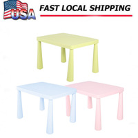 Lovely Kids Children Toddler Plastic Learn Play Table Activity Desk Home Furniture Light Green Child Table