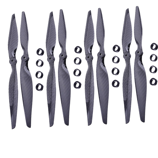 F05314 4 Pairs 13x6.5 3K Carbon Fiber Propeller CW CCW 1365 CF Props  for DIY RC Quadcopter Hexacopter Multi Rotor