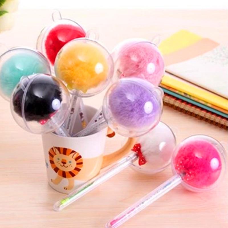 Sydkorea Kreativ Candy Farve Pels Blush Ball Shape pen Sød farverig - Kuglepenne, blyanter og skrive forsyninger - Foto 5